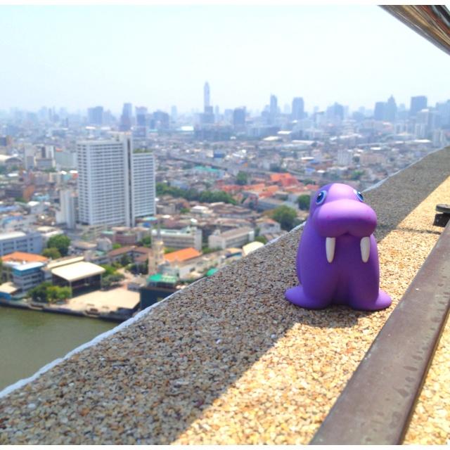 Wallace in Bangkok 40 stories up