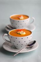 Carrot and Ginger Soup, Lemon Cream Recipe - Photo © British Carrots