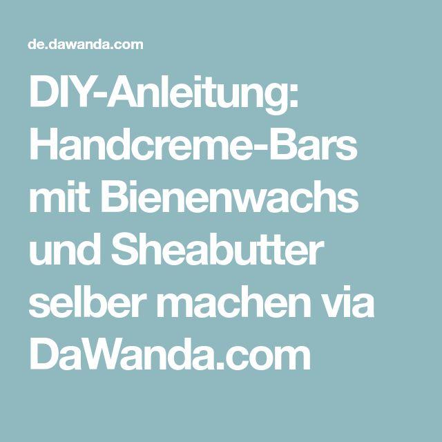 diy anleitung handcreme bars mit bienenwachs und. Black Bedroom Furniture Sets. Home Design Ideas