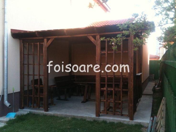 Terase din lemn stratificat, lipite de casa bm201
