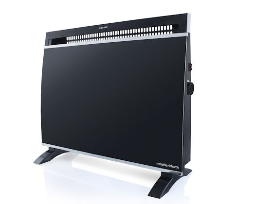 Black Wall Mount Panel Heater – e-Stolo Price: R1,399.95  Compact design with tempered glass finish. Two heat/power settings. Adjustable thermostat control. Overheat protection & thermal cut-