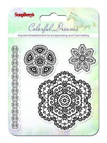 """Set of stamps 10,5*10,5cm """"Colorful Dreams"""""""