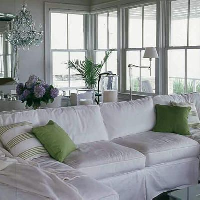 Shake up a tired room in a snap by covering pieces with slipcovers.   Coastalliving.com