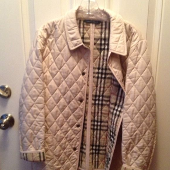 Burberry quilted jacket in gently used condition Burberry quilted jacket with exterior pockets Burberry Jackets & Coats