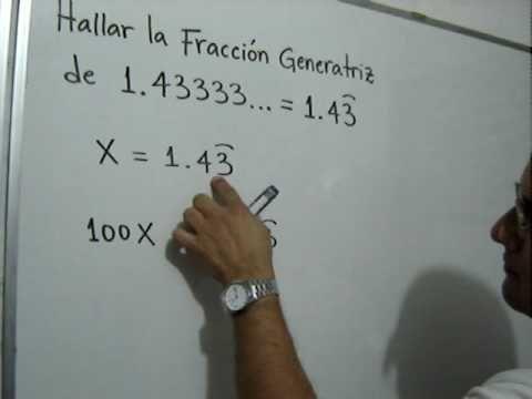 Julio Rios explica cómo obtener la Fracción Generatriz de un número decimal infinito periódico mixto