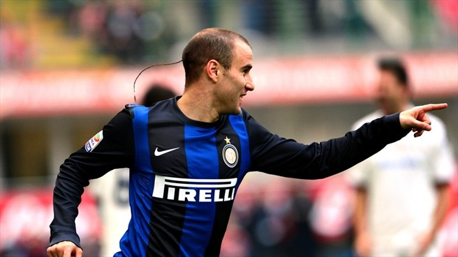 #eltrenza Rodrigo #Palacio (FC Internazionale Milano)  Rodrigo Palacio of FC Internazionale Milano celebrates after scoring the opening goal during the Italian Serie A match against Cagliari Calcio
