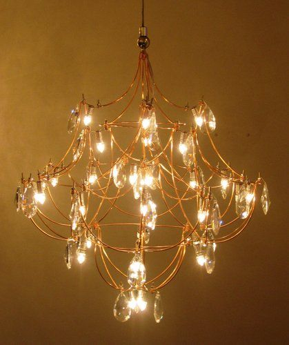 quasar crystal galaxy chandelier 40 in copper lighting. Black Bedroom Furniture Sets. Home Design Ideas