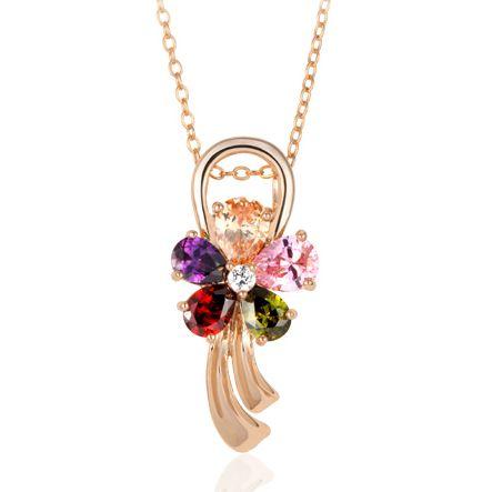 Хрустальный цветок красивый кулон ожерелье, модный ожерелье как подарок на день рождения