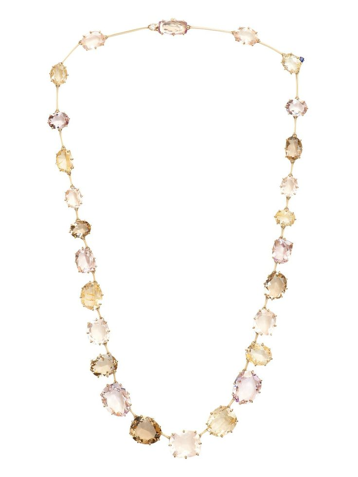 H.Stern+18k+Mixed+Stone+Necklace+-+H.Stern+18k+Yellow+Gold+Mixed+Stone+and+Diamond+Necklace