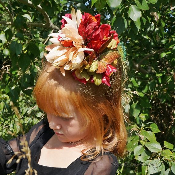Autumn Rich Gold and Red Butterfly Girls by ChantillyLaceDesigns