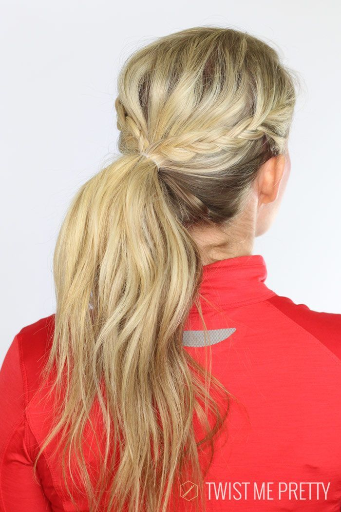 Cute workout hairstyle with braids. | Hair Pins | Pinterest