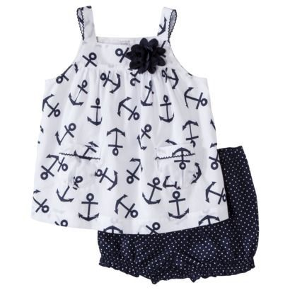 JUST ONE YOU Made by Carters Infant Girls Short Set - NavyWhite omgg ♥33