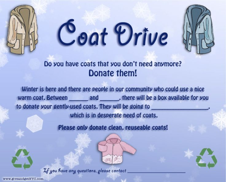coat drive | Winter Coat Drive Flyer