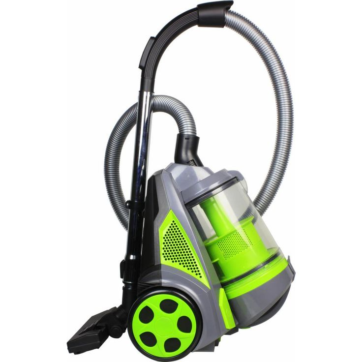 Ovente Cyclonic Bagless Canister Vacuum Cleaner, Greens