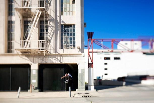 Skater: Johnny Layton  Trick: FS Kickflip  Location: Los Angeles, Ca  Year: 2011  Photographer: Anthony Acosta