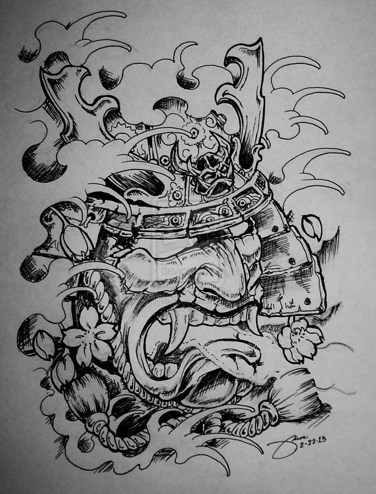 samurai mask tattoo design                                                                                                                                                     More