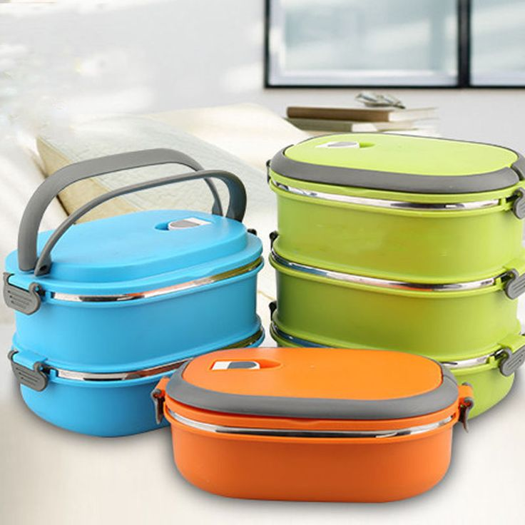 Thermo Jug Insulated Bento Stainless Steel Food Container Lunch Box 1/2/3 Layer | Home & Garden, Kitchen, Dining & Bar, Kitchen Storage & Organization | eBay!