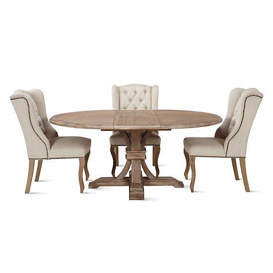 efc284a90160 Archer Wash Oak Extending Pedestal Dining Table