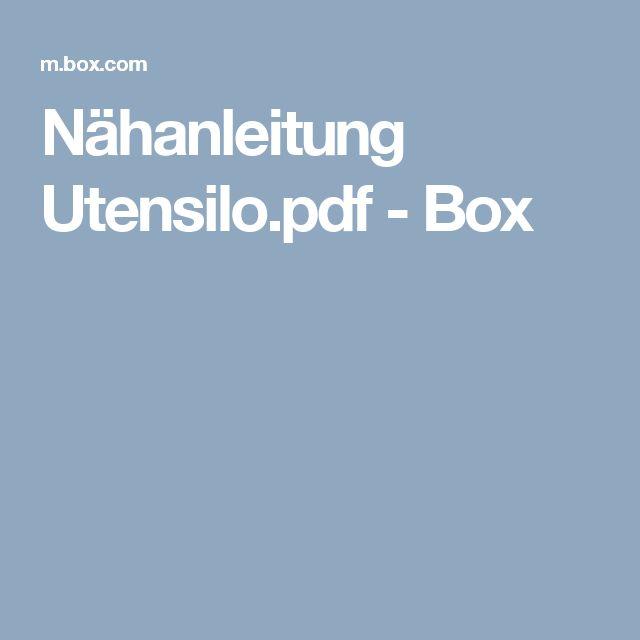 Nähanleitung Utensilo.pdf - Box
