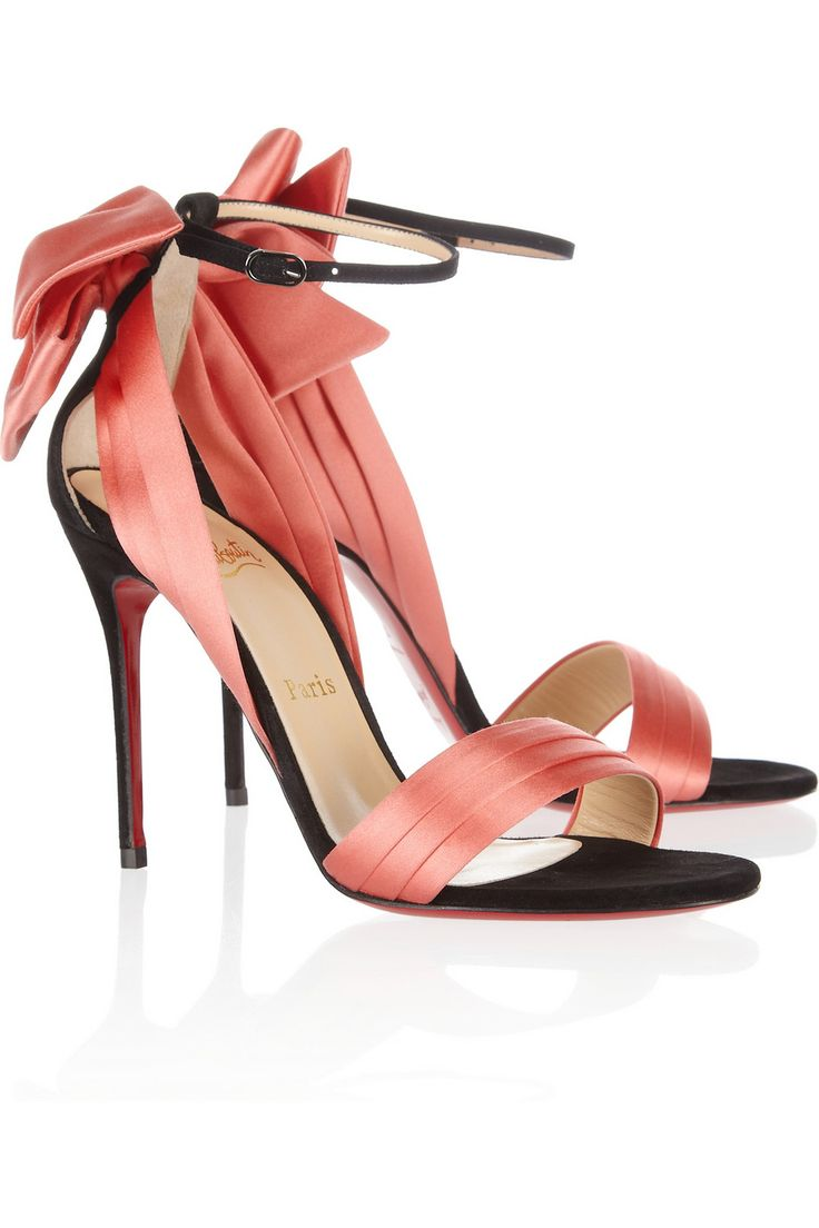 Christian Louboutin - Vampanodo 100 suede and sateen sandals