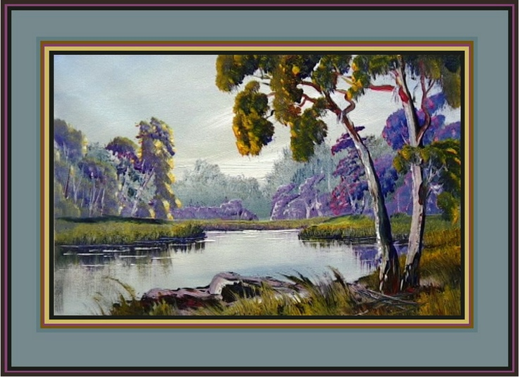 Paint Gums and River Tutorial Oil or Acrylic