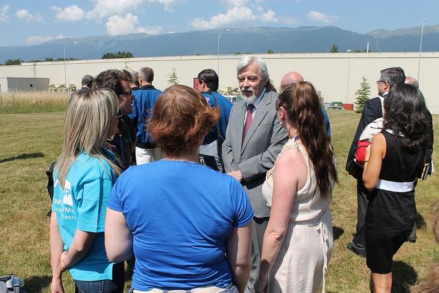 Behind the Scene #CERNTweetup: Tweeps talk to CERN director Rolf-Dieter Heuer   (credit: ESA_events)