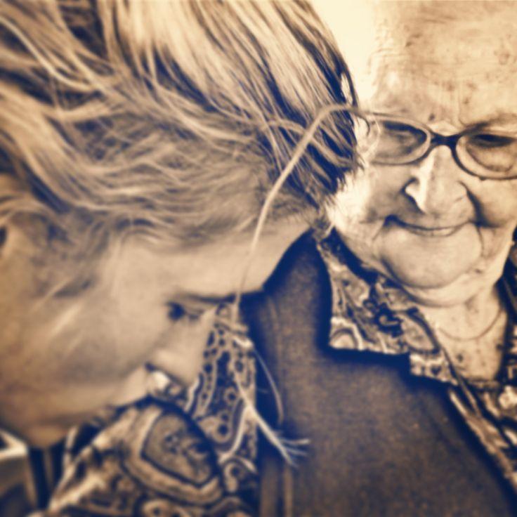 My beautiful gran. Wrinkles are cool.