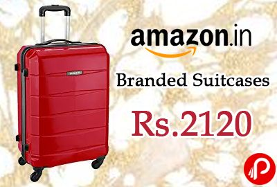 Amazon is offering Minimum 50% Off on Branded Suitcases Price between Rs.2120 to Rs.6120 including Big Brands American Tourister, Safari, Skybags, Aristocrat and VIP Luggages.  http://www.paisebachaoindia.com/branded-suitcases-minimum-50-off-price-rs-2120-to-rs-6120-amazon/