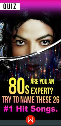 Just beat it! So you think you know all the best songs from the 80s? Let's test your 80s knowledge! 26 80s songs to test your 80s music knowledge. Do you know all these 80s Lyrics? Do you know the best singers from the 80s? Let's see! Michael Jackson, Prince, Madonna...