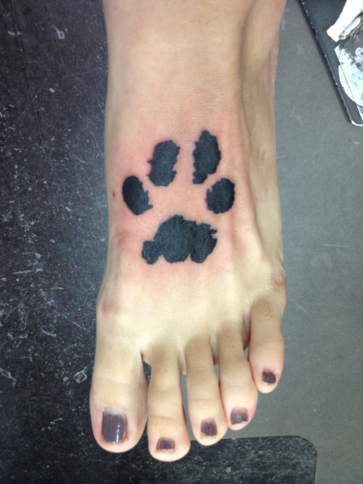 Paw Print Tattoo On Bottom Of Foot: Dog Paw Prints, Ink