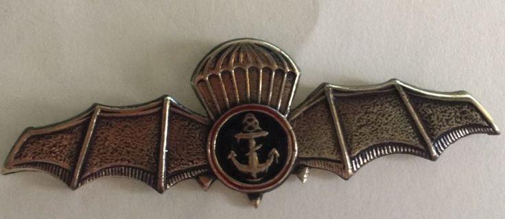 RARE Russian Marines reconnaissance Airborne Spetsnaz brigade badge. Russia. BAT