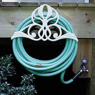 Victorian garden hose reel, beautiful!