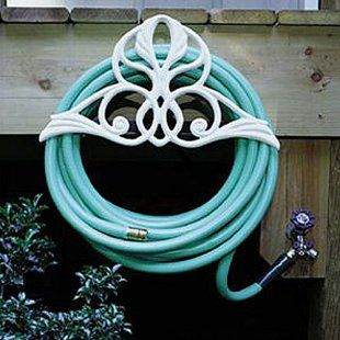 Victorian garden hose reel, beautiful!