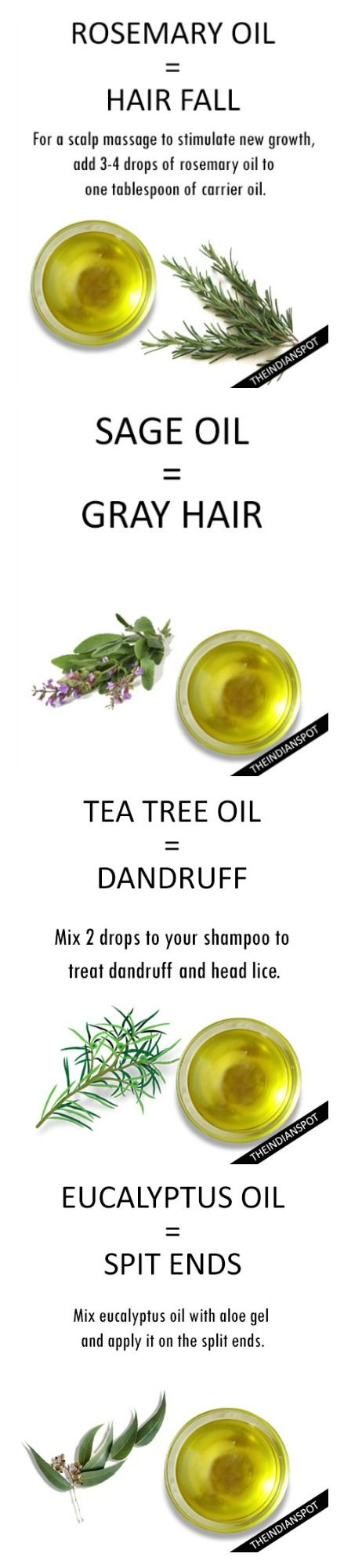 ESSENTIAL OILS FOR  EVERY HAIR  PROBLEM