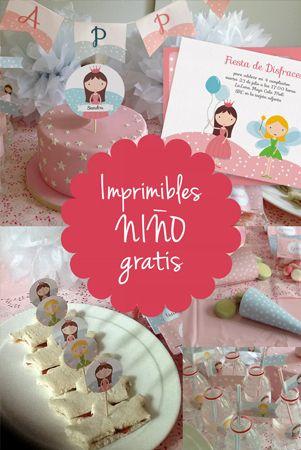Imprimibles gratis personalizables para fiesta infantil