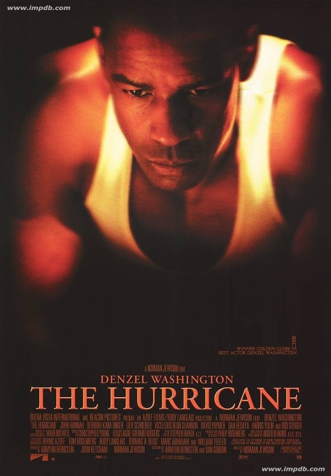 The Hurricane (1999)- I could probably recite this after history but it is a great movie!