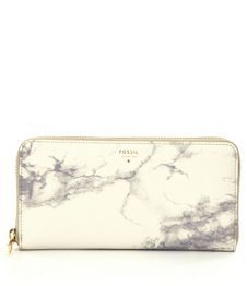 Fossil Sydney Marble-Print Zip Clutch
