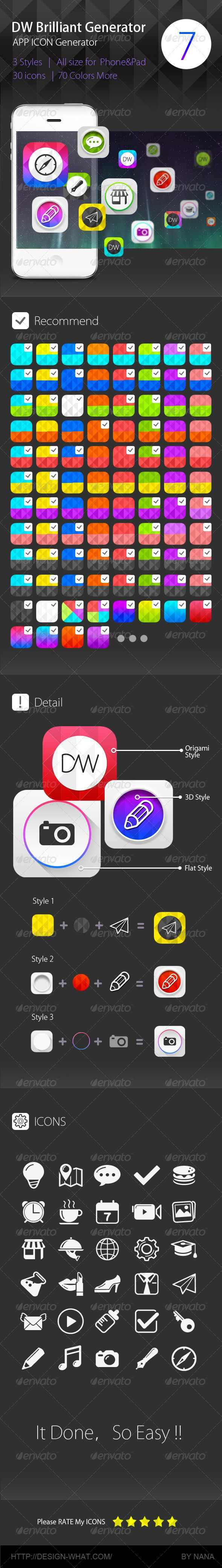 Brilliant APP ICON Generator for DW | Buy and Download: http://graphicriver.net/item/brilliant-app-icon-generator-for-dw/6000502?WT.ac=category_thumb&WT.z_author=90Box&ref=ksioks