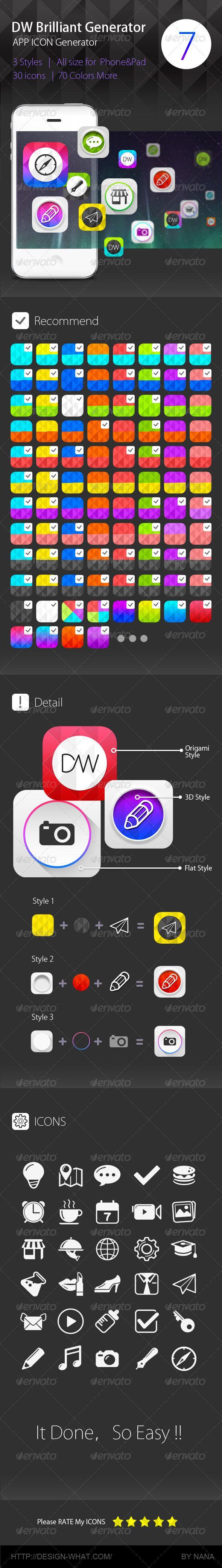 Brilliant APP ICON Generator for DW | Buy and Download: http://graphicriver.net/item/brilliant-app-icon-generator-for-dw/6000502?WT.ac=category_thumb&WT.z_author=90Box&ref=ksioks