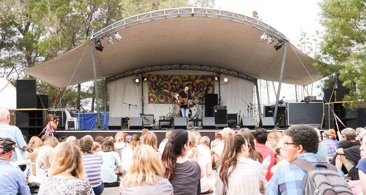The BackLot stage, Fairbridge Festival 2016.
