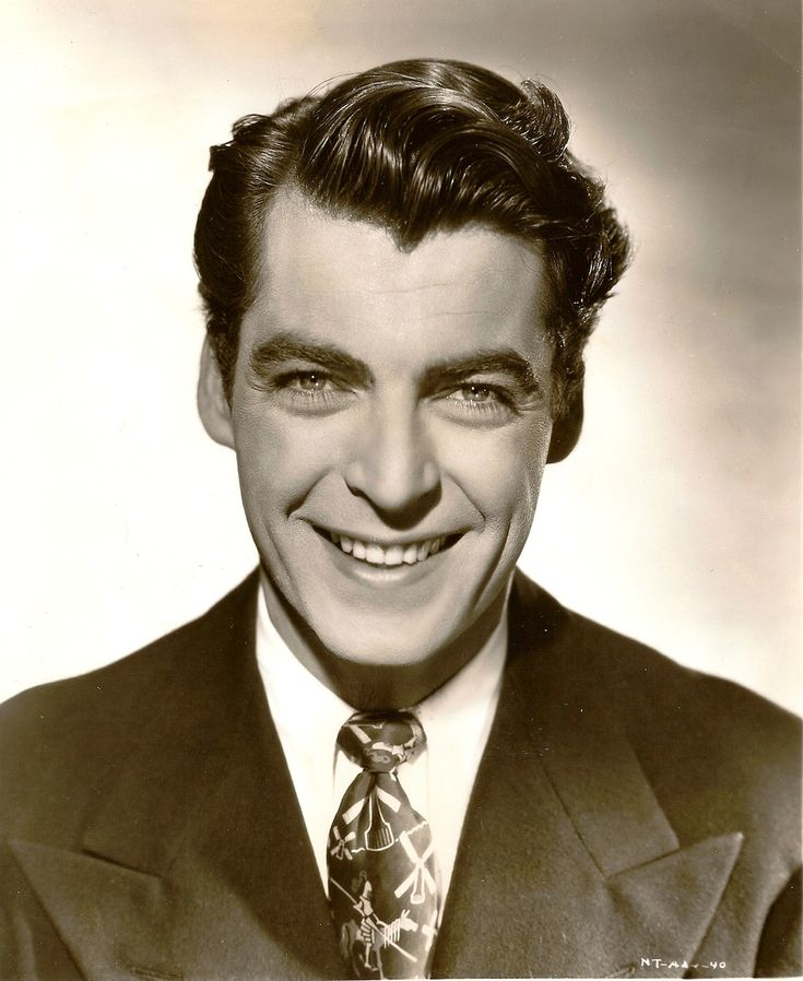 Vintage Actors | Rory Calhoun, 1946 one of the few movie men that smiled with their teeth