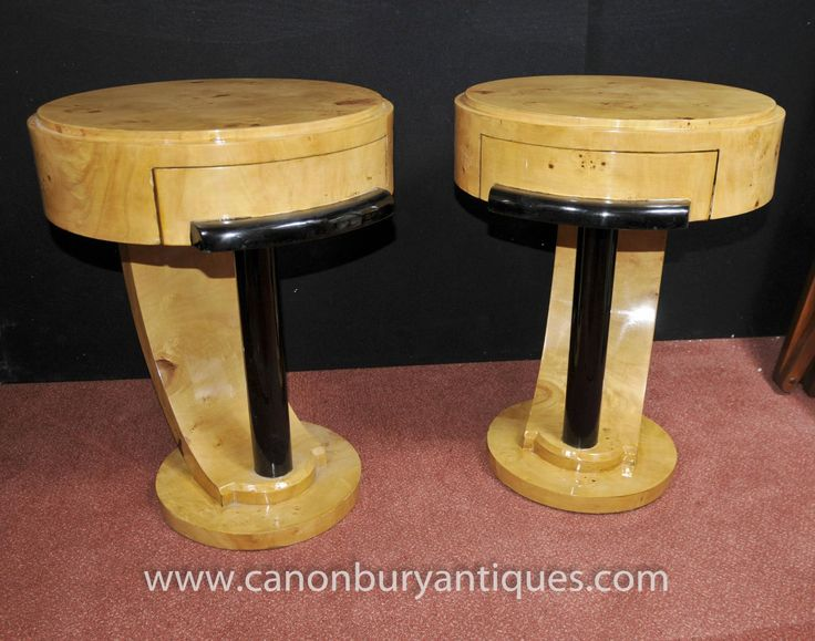 art deco furniture 1920s. photo of pair art deco bedside tables chests nightstands 1920s furniture