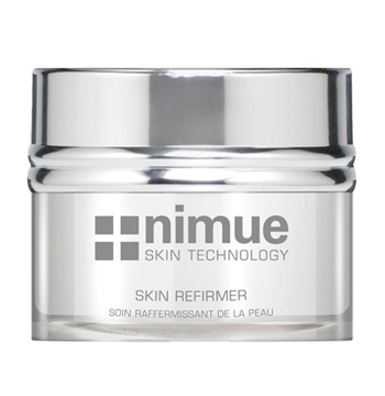Additives: Skin Refirmer. A fast acting multi functional rejuvenation cream, based on a Peptide Complex and Ubiquinone aimed at the prevention and first appearance of expression lines and active anti wrinkle and smoothing effect on existing lines and wrinkles. 50ml. Nimue Skin Technology.
