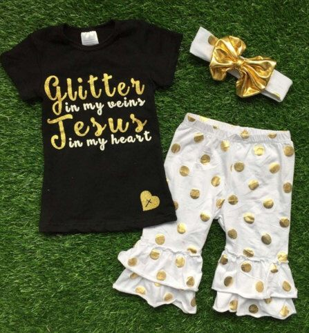 Glitter in my Veins Jesus in my Heart, Boutique clothing, Capri Sets, Headbands, Glitter Shirts, Girls Clothing, Baby Girl Clothing,Infant by LilDarlinsBOWtique on Etsy https://www.etsy.com/listing/268725404/glitter-in-my-veins-jesus-in-my-heart
