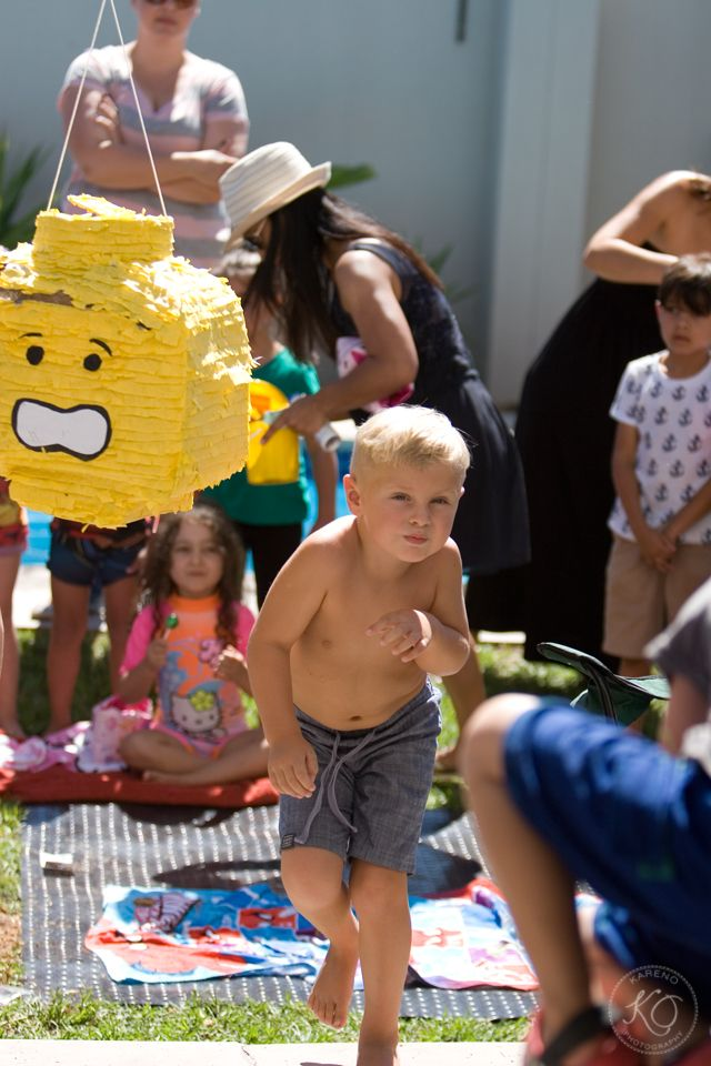 Hitting the Lego Pinata