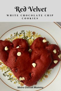 Make your own soft and chewy red velvet white chocolate chip cookies using this simple recipe!