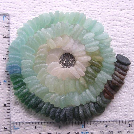 150 Natural Sea Glass Shards Imperfections Art Mosaic Craft Supplies (1783)