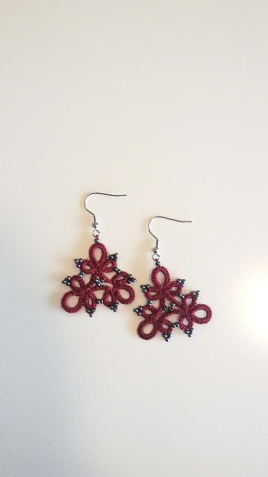 tatted handmade earrings