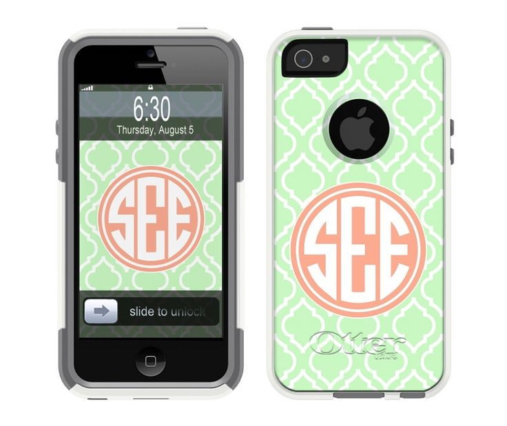 monogrammed otterbox iphone cases