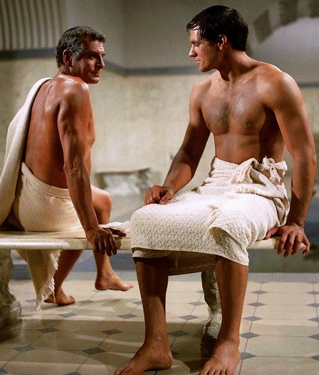 Image result for olivier and john gavin in spartacus 1960